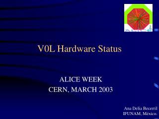 V0L Hardware Status