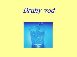 Druhy vod