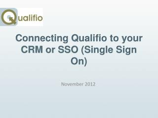Connecting  Qualifio to  your  CRM or SSO (Single  Sign  On)