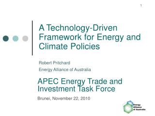 A Technology-Driven Framework for Energy and Climate Policies