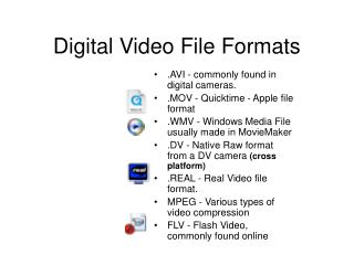 Digital Video File Formats