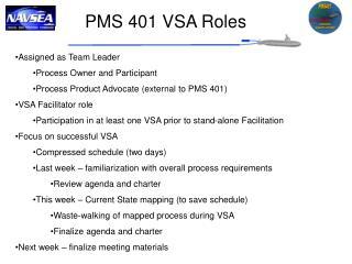 PMS 401 VSA Roles