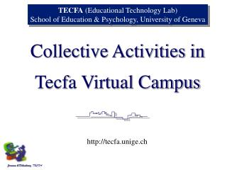 Tecfa Virtual Campus