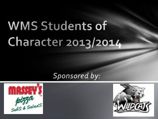 WMS Students of Character 2013/2014