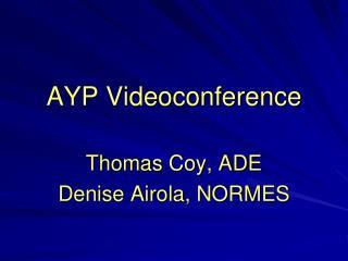 AYP Videoconference