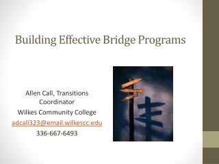 Building Effective Bridge Programs
