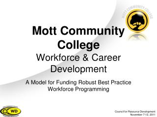 Mott Community College Workforce & Career Development