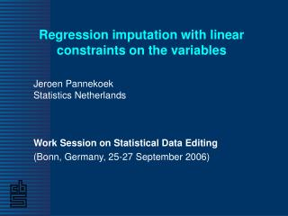 Regression imputation with linear constraints on the variables