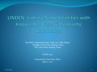 LINDEN: Linking Named Entities with Knowledge Base via Semantic Knowledge