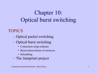 Chapter 10: Optical burst switching