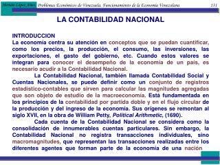 Problemas Econ micos de Venezuela. Funcionamiento de la Econom a Venezolana                             131