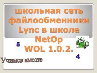 школьная сеть файлообменники Lync в школе NetOp WOL 1.0.2.