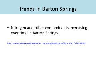 Trends in Barton Springs
