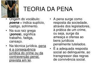 TEORIA DA PENA