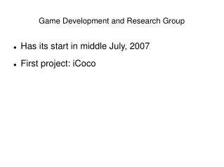Game Development and Research Group