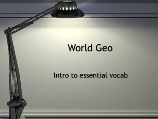 World Geo