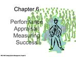Performance Appraisal:  Measuring Success