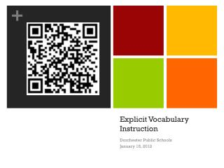 Explicit Vocabulary Instruction
