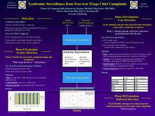 Syndromic Surveillance from Free-text Triage Chief Complaints