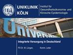 Integrierte Versorgung in Deutschland