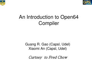 An Introduction to Open64 Compiler