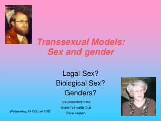 Transsexual Models: Sex and gender