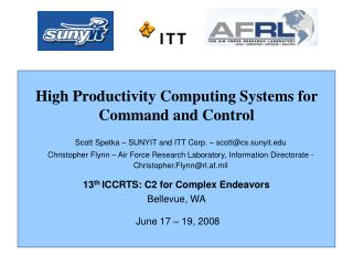 High Productivity Computing Systems for Command and Control