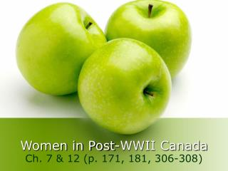 Women in Post-WWII Canada