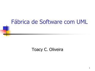 Fábrica de Software com UML