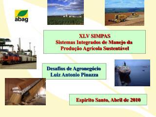 XLV SIMPAS Sistemas Integrados de Manejo da  Produção Agrícola Sustentável