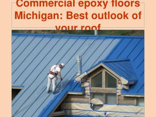 Commercial epoxy floors Michigan