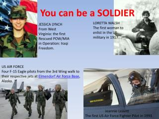 You can be a SOLDIER