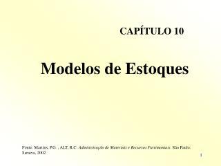 Modelos de Estoques