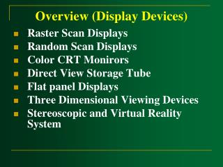 Overview (Display Devices)