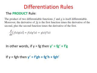 Differentiation Rules