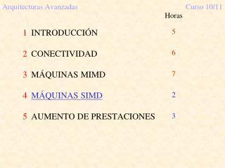 Arquitecturas AvanzadasCurso 10/11