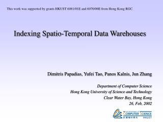 Indexing Spatio-Temporal Data Warehouses
