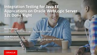 Integration Testing for Java EE Applications on Oracle WebLogic Server 12c Done Right