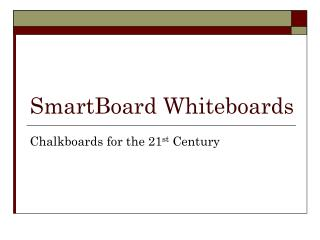 SmartBoard Whiteboards