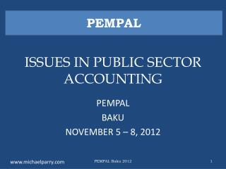 ISSUES IN PUBLIC SECTOR ACCOUNTING