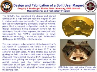 CAD-Model (top) and actual Florida-Helix magnet parts (bottom) of the innermost coils.