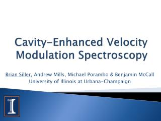 Cavity-Enhanced Velocity Modulation Spectroscopy