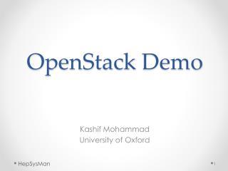 OpenStack  Demo