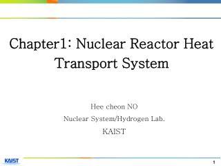 Hee cheon NO Nuclear System/Hydrogen Lab. KAIST