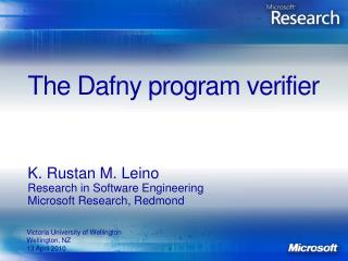 The  Dafny  program verifier