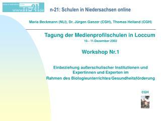 n-21: Schulen in Niedersachsen online