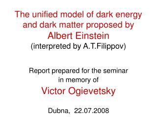 Report prepared for the seminar  in memory of   Victor Ogievetsky Dubna,  22.07.2008