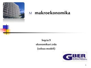 M     makroekonomika