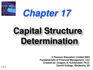 Capital Structure Determination
