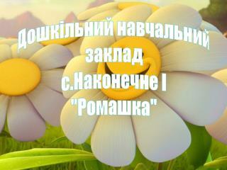 """Дошкільний навчальний  заклад  с.Наконечне І """"Ромашка"""""""
